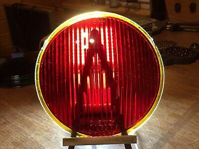 """LQQK! Vintage DIETZ 590 MONOGRAM Light GLASS Lens 5-3/4"""" CaR TrucK Van OLD Tail"""