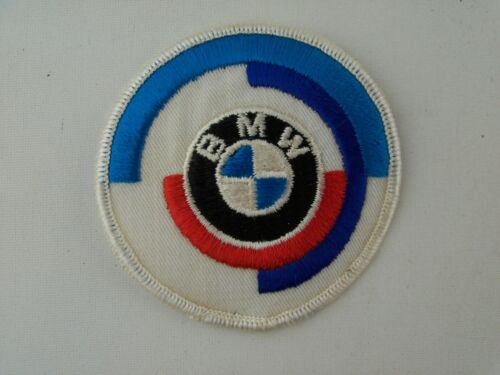 "Vintage 1970 BMW Motorcycle Jacket Patch Racing, Round 3"" with Red Logo"