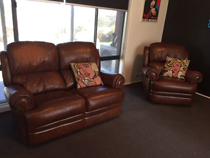 Leather Chesterfield style lounge can deliver  Penrith Penrith Area Preview