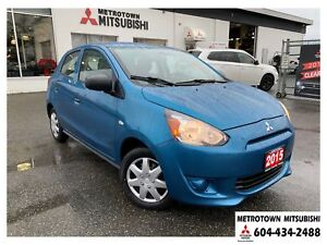 2015 Mitsubishi Mirage ES Plus; Local BC vehicle!