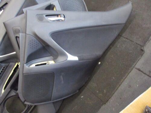 LEXUS IS XE20 (MK2) 2008 OSR DRIVER SIDE REAR DOOR CARD PLASTIC HANDLE PANEL