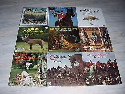 10 verschiedene LPs von und um die Jagd ! Mit sehr vielen, sehr raren LPs ! !