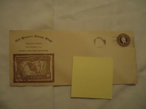 Old Quarter Stamp Shop NEW ORLEANS 16 LA envelope