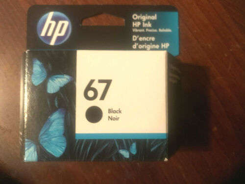 New Genuine HP 67 Black Ink Cartridge Retail Box