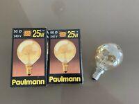 Leuci Eldea Glühbirne//Glühlampe E14 25W Kopfspiegel-Lampe verspiegelt gold