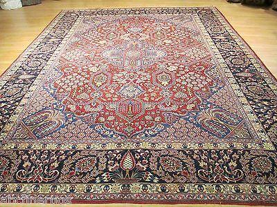 10x13 Circa 1950 PERSIAN Museum TABRIZ Handmade-knotted 100% Wool Rug 582628