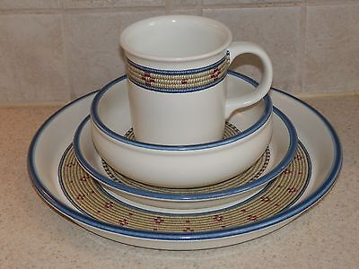 Coil Mug - DANSK CHINA COIL PATTERN 4 PIECE SETTING DINNER SALAD MUG BOWL