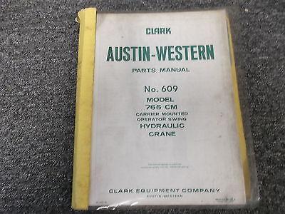 Austin Western 765 Cm Carrier Mounted Swing Hydraulic Crane Parts Catalog Manual