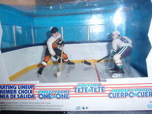 NHL FREEZE FRAME ONE ON ONE, PAUL MARIYA VS ERIC LINDROS