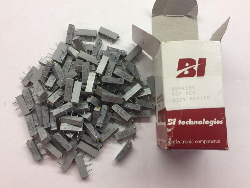 (50 PIECE LOT) 89PR25K BI Tech TRIMMER 25KOHM 0.75W PC PIN SIDE
