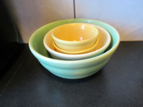 Vintage Bauer Nesting Bowl Set Of 4 Number 12, 24 and Two 36