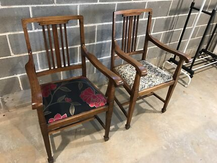Oak chairs - vintage  (two)