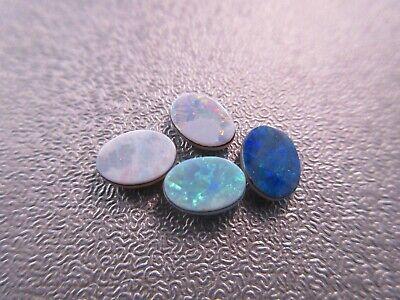 Australian Boulder Opal 6x5mm Doublets Cabochons - Australian Boulder Opal Doublet