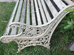 VINTAGE CAST IRON GARDEN BENCH SEAT Redcliffe Redcliffe Area Preview