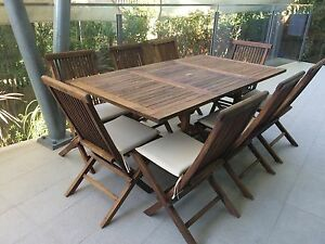 Teak 8 seater outdoor setting, extendable table Balmoral Brisbane South East Preview