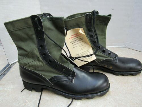 US Vietnam Era Jungle Boots Combat Genesco CIC Size 9XN 1970 Dated Spike Protect