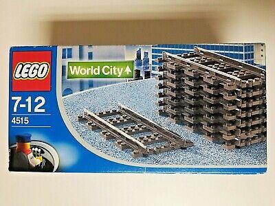LEGO Straight Rails Electric System Rare Box 9V Track 8 Tracks 4515 Sealed NIB