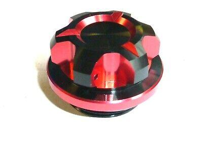 Kawasaki ER5 96-00 Tapón de Llenado Aceite CNC Rojo Dual Anodizado Cross Taladro