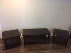 Set of Oak Coffee and End Tables