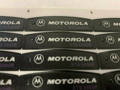 New Oem Motorola Xts5000 Xts 5000 Front Name Plate Housing Label Sticker Qty-1