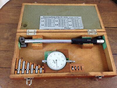 Mitutoyo Dial Bore Gauge Set No. 511-164 1.4 To 2.4 Range Wooden Case Wh-13