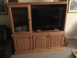 Tv wall unit - solid Oak