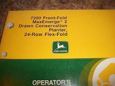 John Deere Operators Manual 7200 Front-fold Maxemerg 2 Planter 24-row Flex-fold