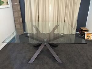 Nick Scali Glass Top Dining Table Echuca Campaspe Area Preview
