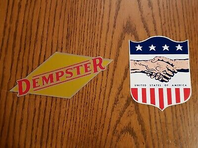 Vintage Dempster Mill Decal Sign NOS