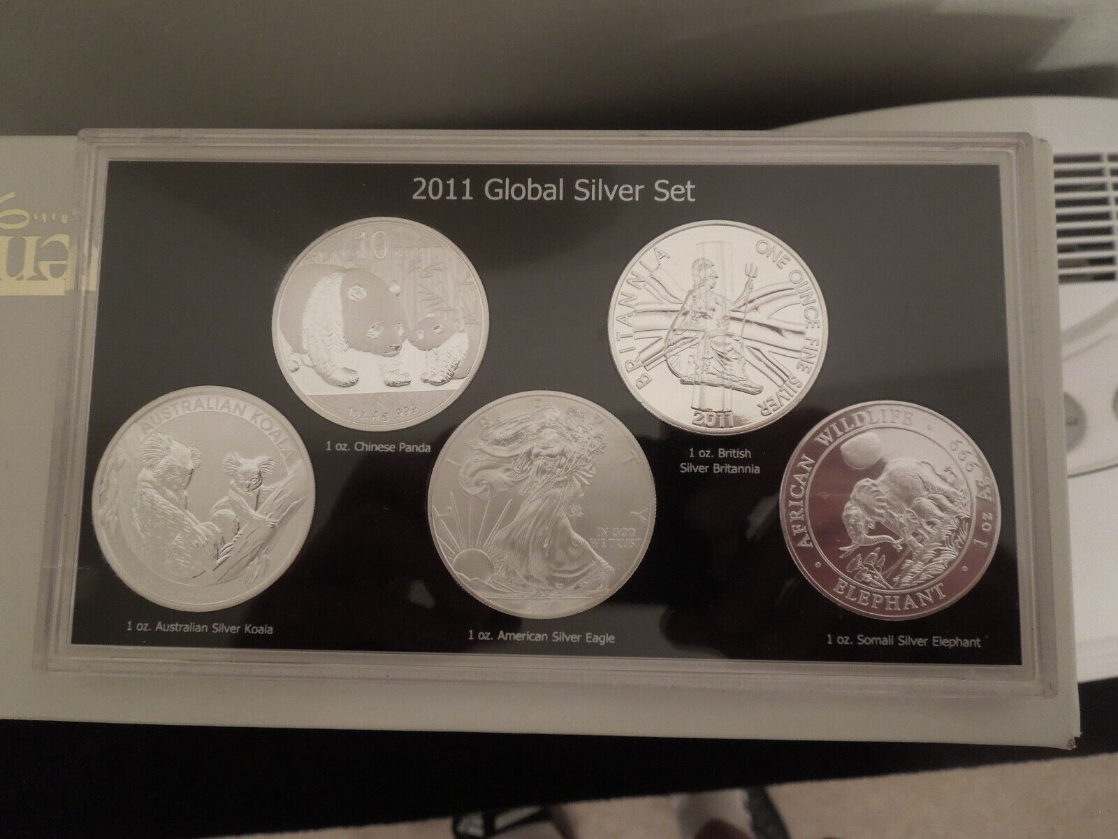 2011 GLOBAL SILVER SET 5 COINS - $150.00
