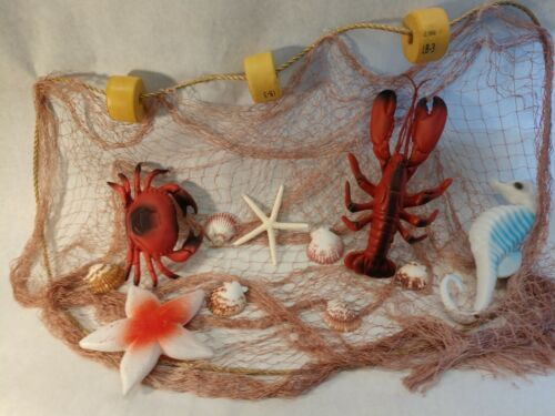 Authentic Fishing Net,Large Fish Netting Display, Lobster, Crab Decor   6