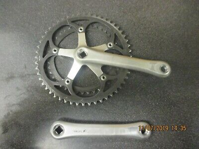 """Silver 170mm FIXIE SINGLE CHAINSET 46 teeth VINTAGE Cottered 9//16/"""" pedals"""