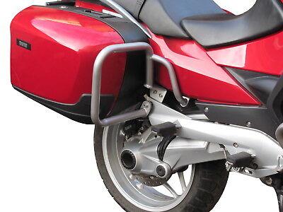 Pare carters Heed BMW R 1200 RT (05-13), argenté, arrière, protection moteur