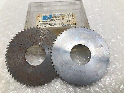 "2 Robb Jack C10-014-12-24 3//8/"" Arbor 24 Teeth 1/""D .014/"" T  Solid Carbide Saws"