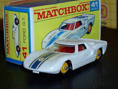 Matchbox Lesney Ford G.T.40 41 c2 '6' decal BPT/YW w/ ext SC4 EX/NM crafted box