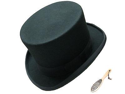 Qualität schwarz Wolle Top Hut Hochzeitskleid Event Filz - Qualität Top Filzhut