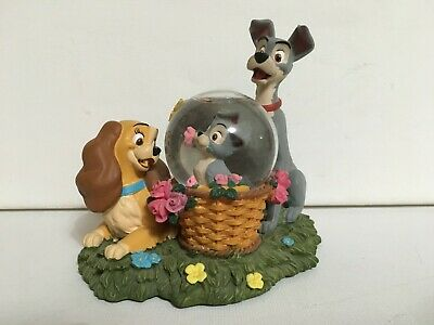 Older Disney Store Lady and the Tramp Snow Globe