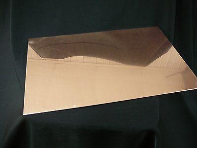 20oz Revere Copper Sheet- 22 Ga. .027 Thick - 9x12 - Free Shipping