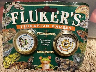 Fluker's Terrarium Gauges Combo Pack Hygrometer And Thermometer