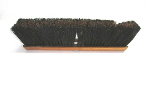 "NOS! MAGNOLIA 16"" FLOOR BRUSH BROWN POLY & BLACK PLASTIC 3"" BRISTLES"