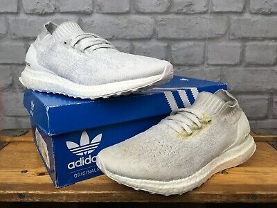 ADIDAS ULTRA BOOST UNCAGED WHITE GREY TRAINERS VARIOUS SIZES CHILDRENS LADIES