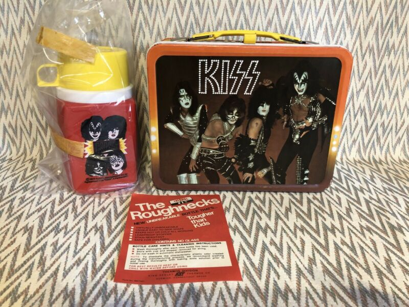 VINTAGE - 1977 KISS Lunch Box with Thermos - AUCOIN Lunchbox