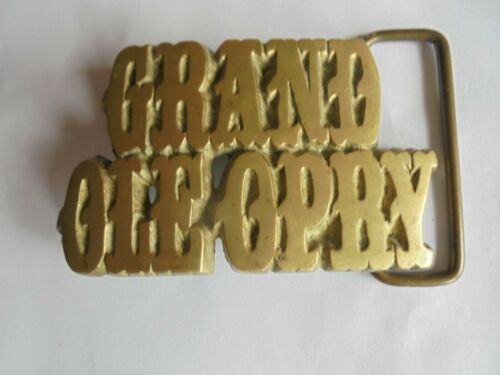Vintage 1978 Baron Buckle Grand Ole Opry Solid Brass Souvenir Belt Buckle