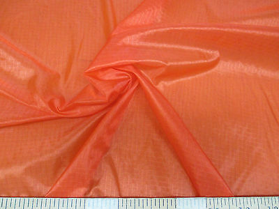 Discount Fabric Ripstop Rip Stop Nylon Water Resistant Orange RS41 (Water Resistant Fabric)