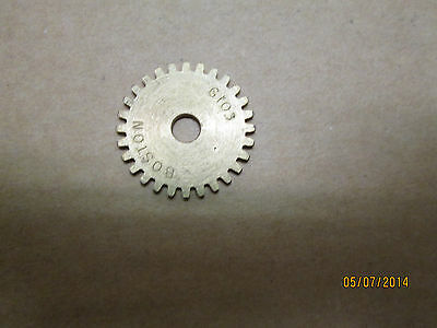 """NEW BOSTON G103 BRASS SPUR GEAR, 32 PITCH, 28 TOOTH, 3/16"""" BORE."""