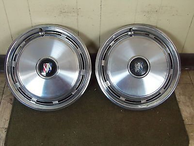 """74 75 76 Buick HUBCAPS 15"""" Set of 2 Wheel Covers"""