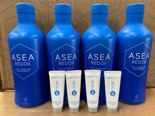 4× ASEA REDOX Dietary Supplement Bottles +Free 4RENU 28™+Free Shipping EXP:0621