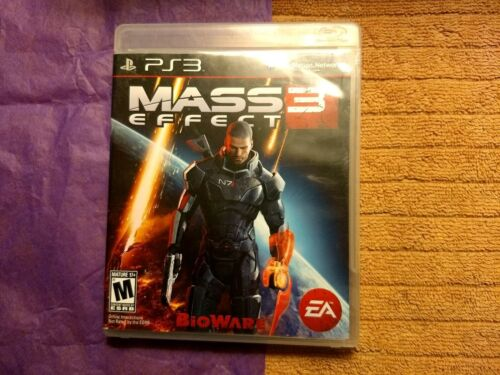 Mass Effect 3 (Sony PlayStation 3, 2012) cleaned tested working