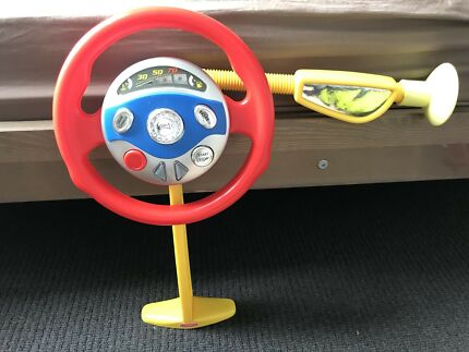 Travel toy steering wheel