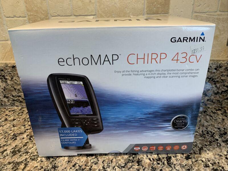 Garmin echoMAP CHIRP 43cv US Lakevu HD G2, Transducer, mounts & Hardware - NIB
